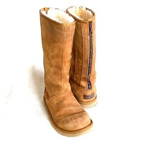 UGG AUSTRALIA boot zip up back CAMEL, 8